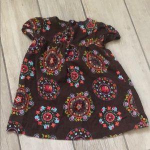 Baby Gap Corduroy Printed Dress
